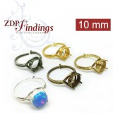 Round 10mm Bezel Adjustable Locking Ring