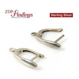 925 Silver Earring base 15x10mm