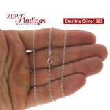 Sterling Silver 925 Finished Cable Chain
