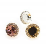 12mm Post Earrings Setting fit Swarovski 4470