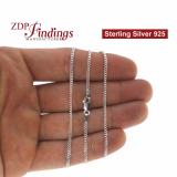 Sterling Silver 925 Finished Curbed Chain