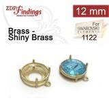 12mm Round Brass Bezel