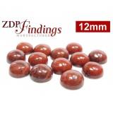 12mm Round Red Jasper Cabochons
