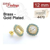 12mm 4470 Swarovski Post Rhinestone Earrings
