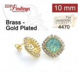 10mm 4470 Swarovski Post Rhinestone Earrings