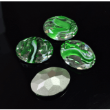 Oval 18X13mm Czech Crystals fit Swarovski 4120-Green