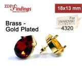 18x13mm 4320 Swarovski Post Earrings, Choose your options