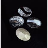 Oval 18X13mm Czech Crystals fit Swarovski 4120-Black