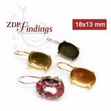 Oval 18x13mm Kidney Wire Earrings Fit Swarovski 4120