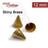 12x9mm Shiny Brass Cones