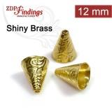 11.7x7.8mm Shiny Brass Cones