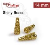 14.3x3.8mm Shiny Brass Cones