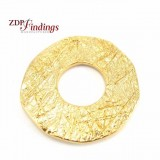 33mm Round Pendant, Matte Gold Plated