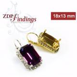 18x13mm 4610 Swarovski Lever back Rhinestone Earrings