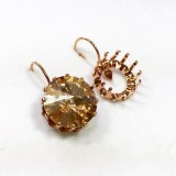 16mm 1122 European Crystals Lever back Earrings, Choose your options