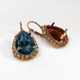 18x13mm 4320 European Crystals Lever back Rhinestone Earrings