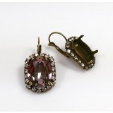 18x13mm 4120 Swarovski Lever back Rhinestone Earrings
