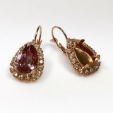 14X10mm 4320 European Crystals Lever back Rhinestone Earrings