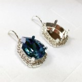 18x13mm 4320 Swarovski Lever back Rhinestone Earrings