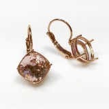 10mm Leverback Earring, Rose Gold