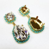 18x13mm 4320 Swarovski Post Rhinestone Earrings