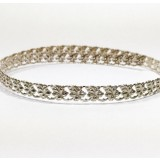12 Inch Gallery Wire 935 Sterling Silver , 6x1.2mm