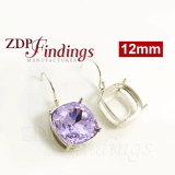 12mm Ear Wire Earring, 925 Sterling silver, Choose your finish.