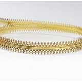 24 Inch Gallery Wire Shiny Brass , 7.5x0.6mm