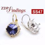 ss47 1122 European Crystals Lever back Rhinestone Earrings