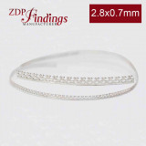 12 Inch Gallery Wire 935 Sterling Silver , 2.8mm