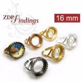 16mm Adjustable Round Ring Base - Choose your finish