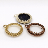 14mm Round Brass Bezel, choose your finish.