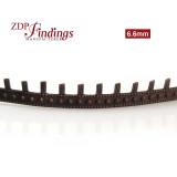 6.6mm Width Brass Gallery Pattern Wire, 24 inch