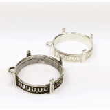 20mm Round 925 Sterling silver Bezel, choose your finish.