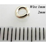 2mm I.D x 1.0mm Jump Rings Sterling Silver 925