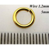 1.2mm x 5.0mm I.D Jump Rings 14K Gold Filled