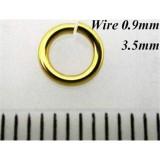 0.9mm x 3.5mm I.D Jump Rings 14K Gold Filled