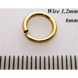1.2mm x 6mm I.D Jump Rings 14K Gold Filled