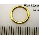 1.2mm x 7mm I.D Jump Rings 14K Gold Filled