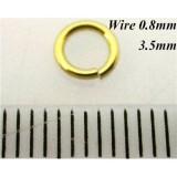 3.5mm I.D x 0.8mm Jump Rings 14K Gold Filled
