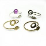 6mm Round Ring Base Shiny Brass