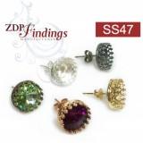 ss47 1122 Swarovski Post Earrings, Choose your options