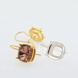 Square 12mm Kidney wire Earrings fit Swarovski 4470