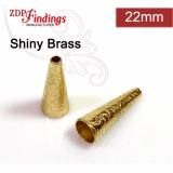 22.5x6.7mm Shiny Brass Cones