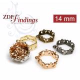 14mm Hexagon Bezel Setting Pendant or Earrings fit European Crystals 4681