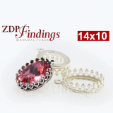 14x10mm Oval 925 Sterling silver Bezel, choose your finish.