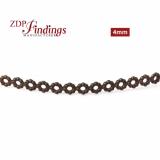24 Inch (61cm) x 4mm Width Brass Strip Gallery Decorative Ribbon
