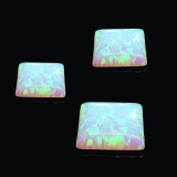 Opal (Lab Created) Square Cabochon, Choose your size.