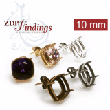 10mm Post Earring, Choose your finish.