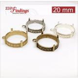 20mm Round Brass Bezel, choose your finish.